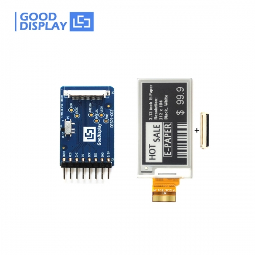 2.13 inch e-paper display partial refresh 4 Grayscale with HAT connector demo board