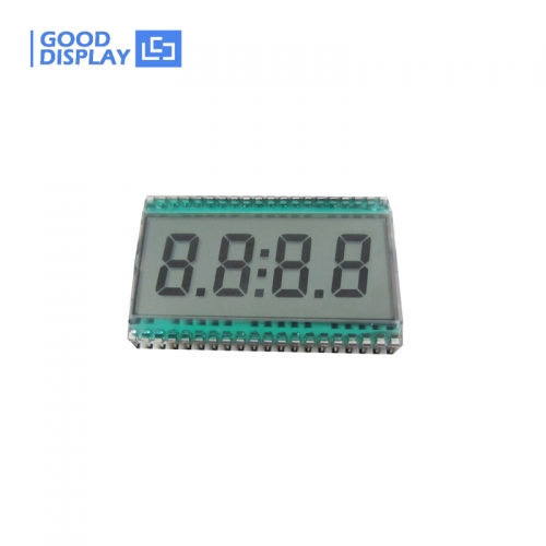 10 pieces, 4 Digits LCD Panel EDC190, Semi-transparent, 3.3V