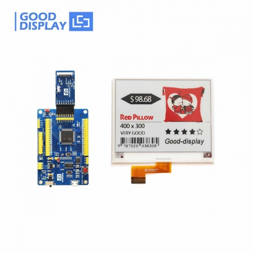 4.2 inch red e-paper display color e-ink screen module with demo kit drive board, GDEH042Z21+DESPI