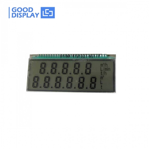 10 pieces, -20℃ TN positive reflective type with 2 lines 11 digits 28pins segment lcd GDC0178DP15